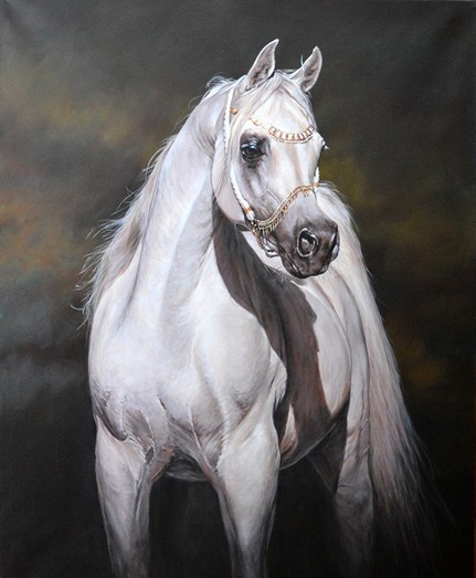 Original Arab Horse Painting