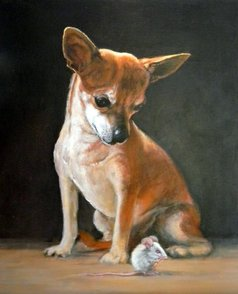 Chiwawa Dog Painting