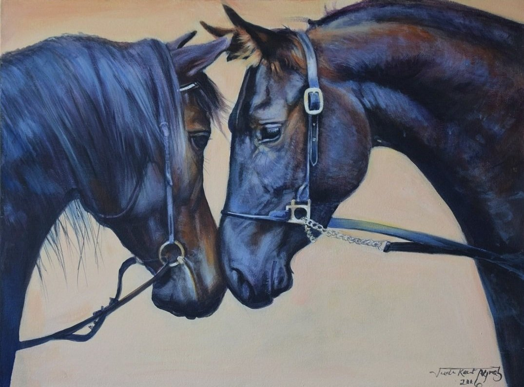 Thoroughbred horse painting