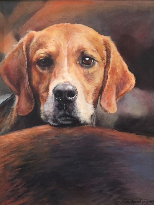 Hound Dog Painting For Sale