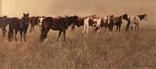 Mustang Mares Horse Painting