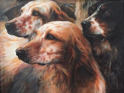 Setters Dog Painting